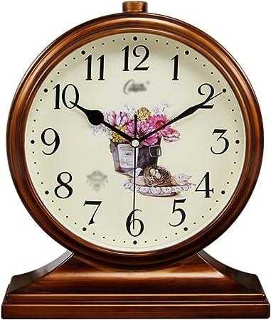 PIGE Reloj nórdico Retro Reloj jardín Sala de Estar Reloj Reloj de cabecera Dormitorio Mudo Reloj Reloj de Cuarzo de Doble propósito (Color : A): Amazon.es: Hogar