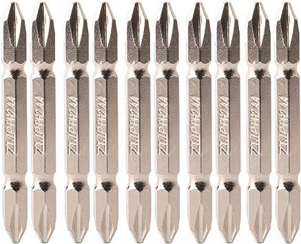CESFONJER 10 PCS 65mm Set de puntas dobles imantadas PH2 | PH2 ...