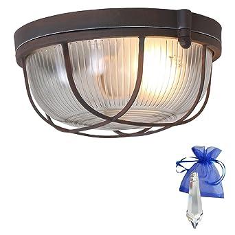 Barco lámpara en efecto oxidado. Diámetro 24 cm Vintage E27 ...