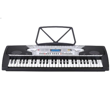 Andoer® 54 Claves Multifuncional Enseñanza-Tipo de Teclado Electrónico Pantalla LCD Órgano Electrónico Piano
