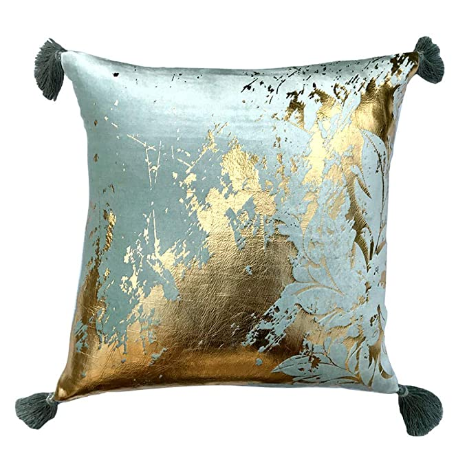 Amazon.com: The HomeCentric Designer Sea Green Colour Gold ...