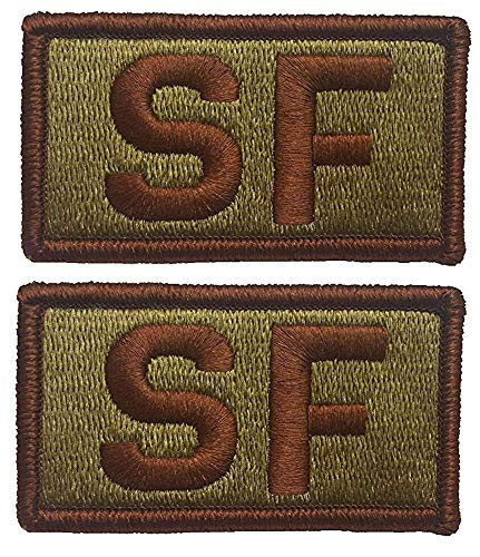 (2 PACK of USAF Security Forces OCP Patch - Spice Brown - Air Force SF Patch)