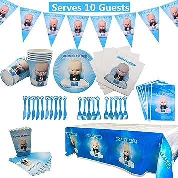 Amazon.com: Baby Boss Party Supplies Set 78 unidades ...