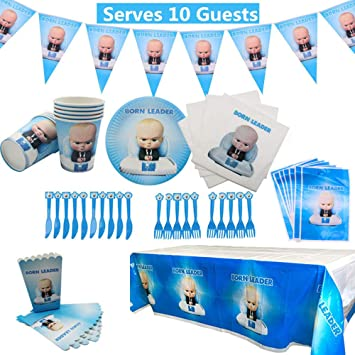 Geenber Boss Baby Party Supplies Set 78 Pack Decoraciones ...