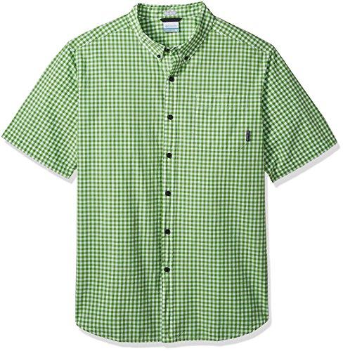 Columbia Mens Rapid Rivers Ii Big & Tall Short Sleeve Shirt, Spring Gingham, 3X