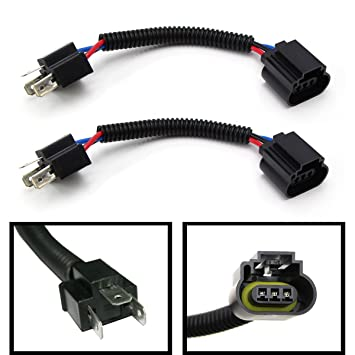 61YX2jVOSqL._SY355_ amazon com (2) ijdmtoy h4 9003 to h13 9008 pigtail wire wiring Trailer Wiring Harness Adapter at creativeand.co