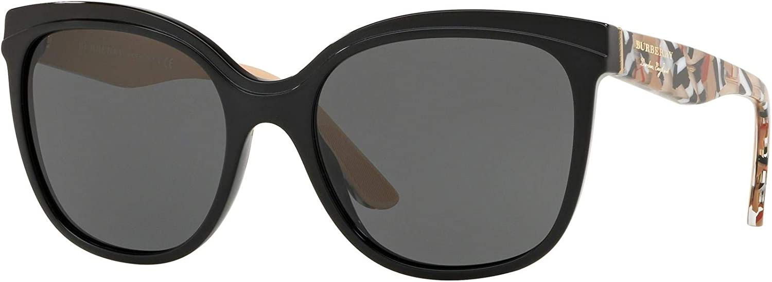 Burberry BE4270 372887 Black BE4270 Butterfly Sunglasses Lens Category 3 Size 5