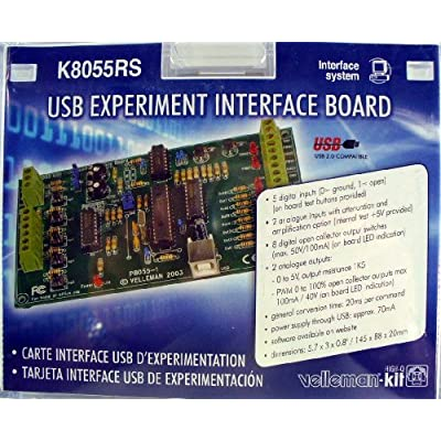 VELLEMAN K8055RS USB EXPERIMENT INTERFACE BOARD KIT by Velleman: Toys & Games