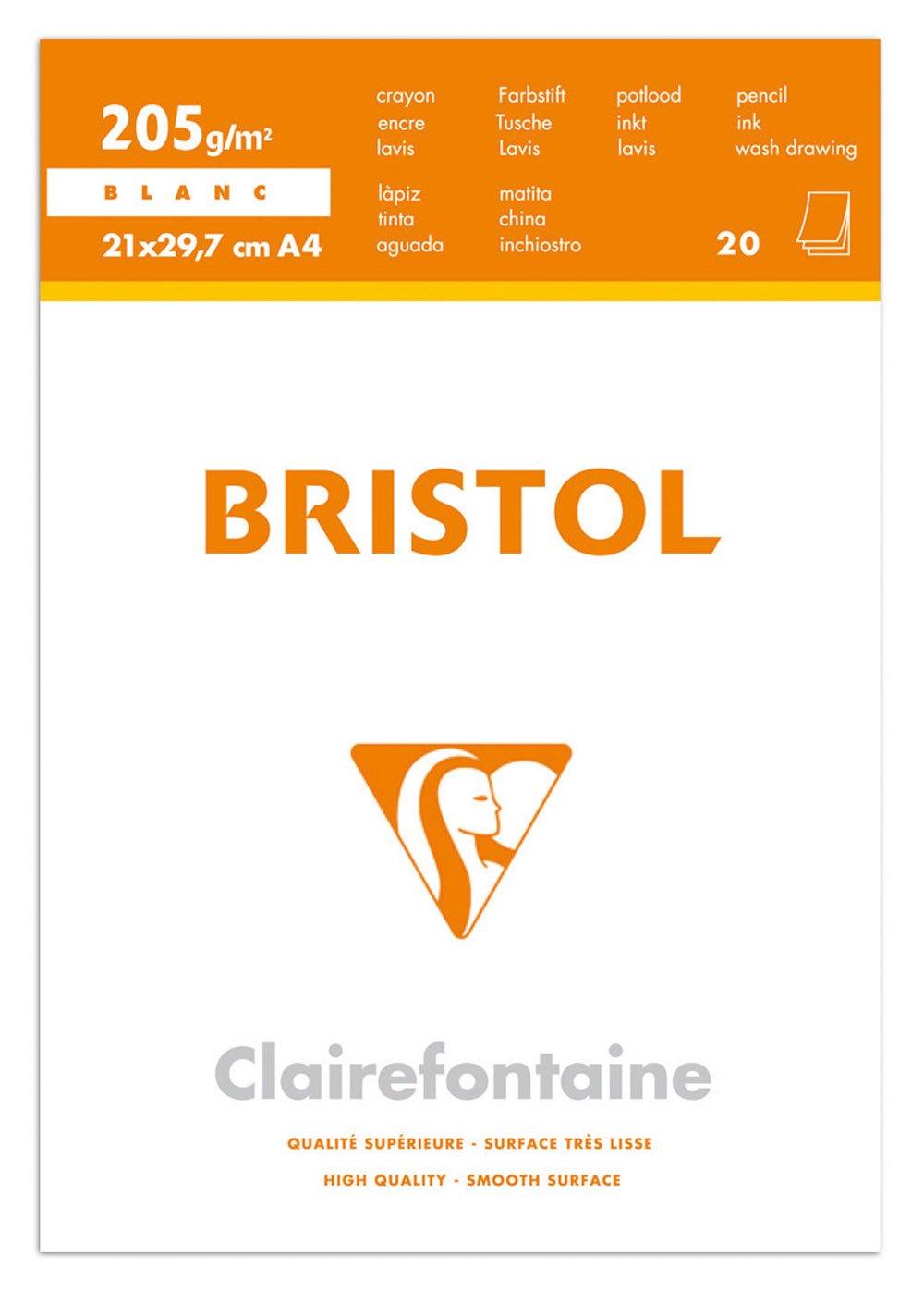 Clairefontaine 96370C Confezione Carta Bristol Extra, 33.9 x 25.3 x 0.4 cm, Bianco