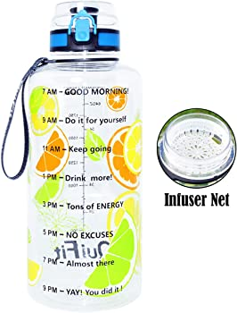 BuildLife Gallon Water Bottle with Time Marker