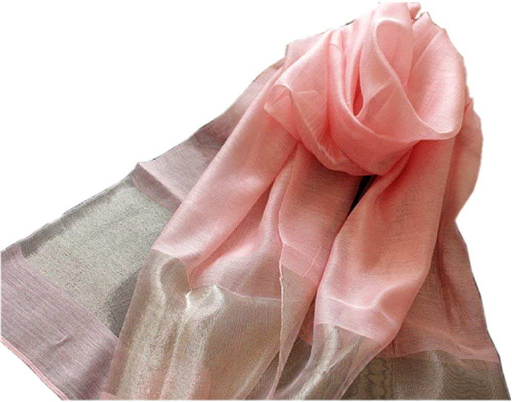 LadyMYP 200× 70CM Glamurö s & elegant Stola Schale aus 40% Seiden & 50% Kunstbaumwolle & 10% Watkins
