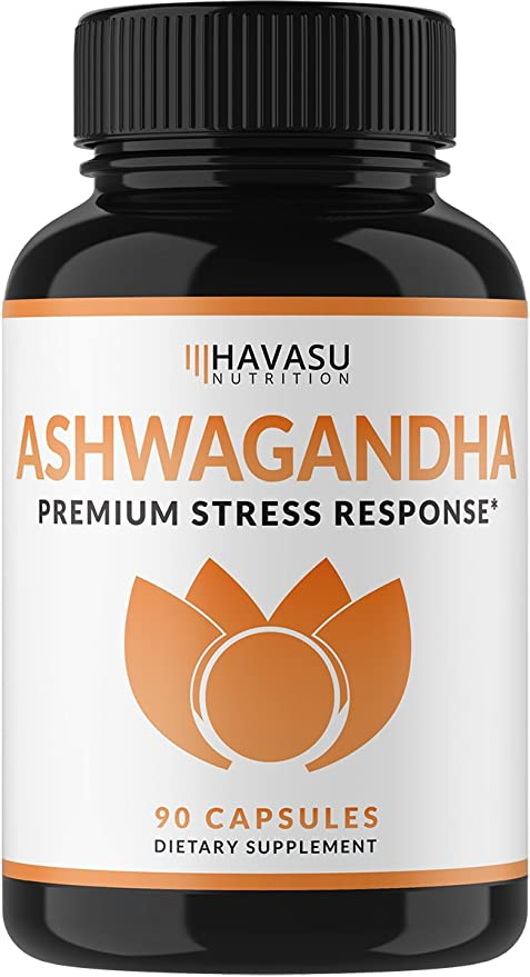 Havasu Nutrition Ashwagandha Capsules for Maximum Stress Relief (1000 mg), Mood Support and Adrenal Fatigue Relief; Non-GMO 90 Capsules for Men & Women