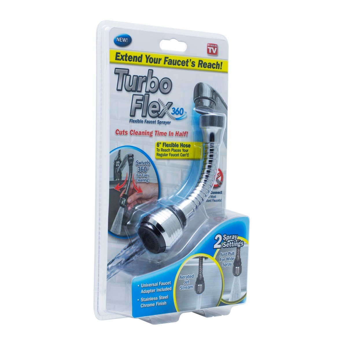 SPJ Turbo Flex Swivels 360 Flexible Sink Faucet Extension Hose ...