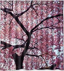 Popular design Beautiful Cherry Blossom Tree,Japan Cherry Blossom art Shower Curtain