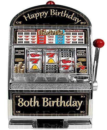 1/4 Sheet - Las Vegas Happy 80th Birthday Slot Machine - Edible Cake/Cupcake Party (Happy Machines)