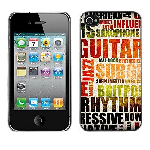 Premio Sottile Slim Cassa Custodia Case Cover Shell // V00002016 Musique de fond // Apple iPhone 4 4S 4G