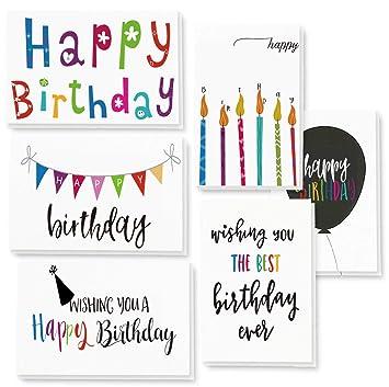 Amazon.com: Juego de 48 tarjetas de felicitación de ...