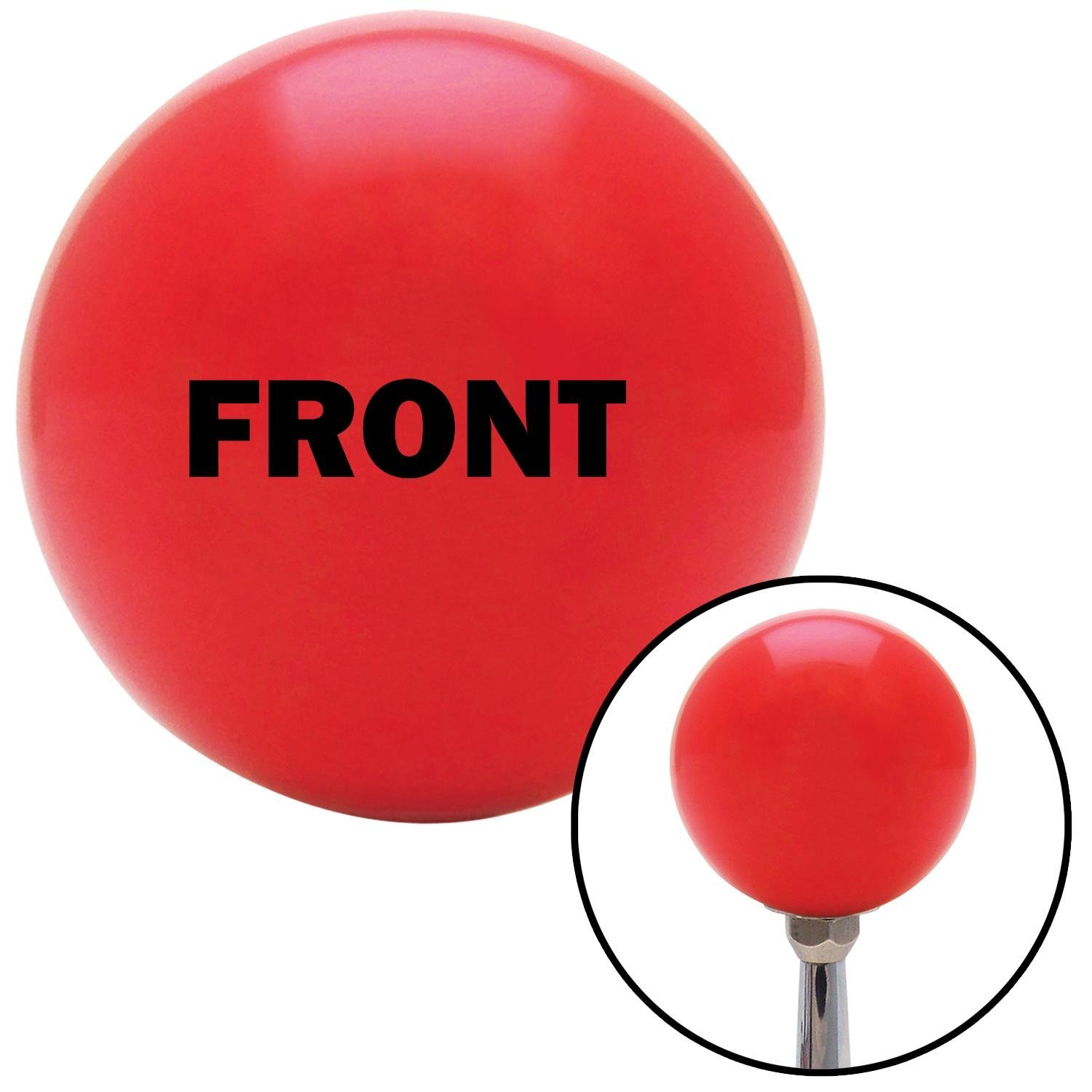 Black Front American Shifter 102354 Red Shift Knob with M16 x 1.5 Insert