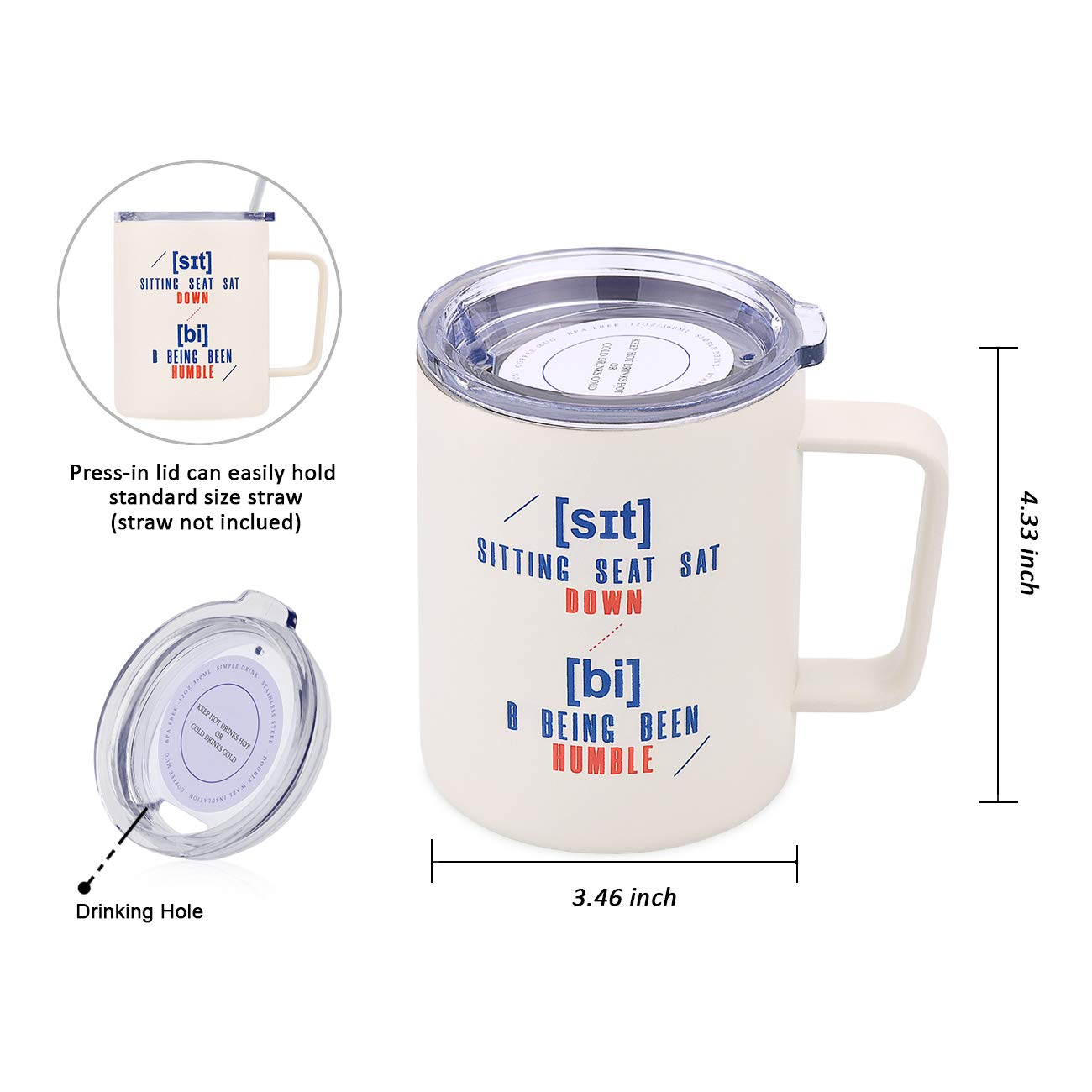 Amazon.com: Simple Drink - Taza de café divertida | Vaso de ...