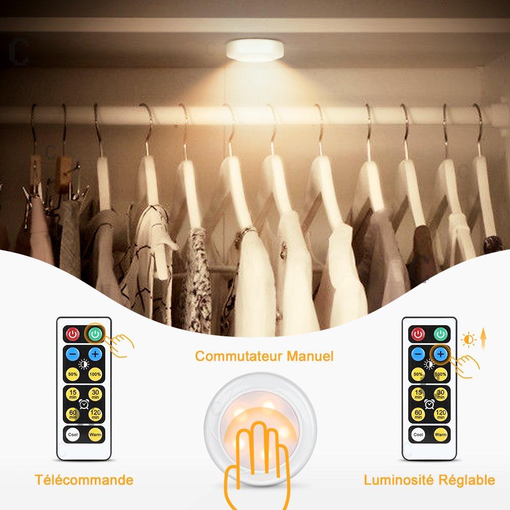 Pack Lampe De PlacardYissvic 6 Veilleuse Led Adhésive stxrChQd
