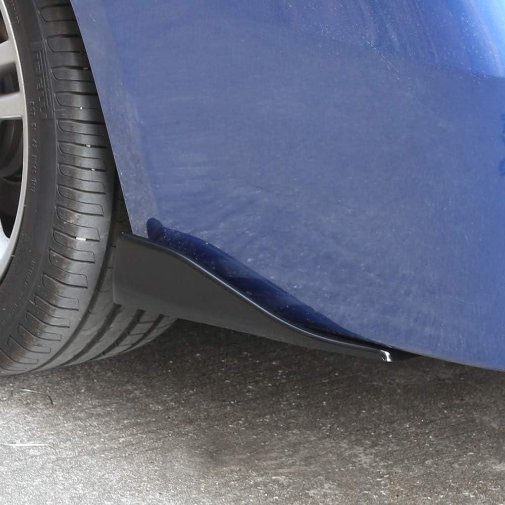 6035#Carbon Universal Car Side Skirt Rear Bumper Lip Splitter Winglet Aprons