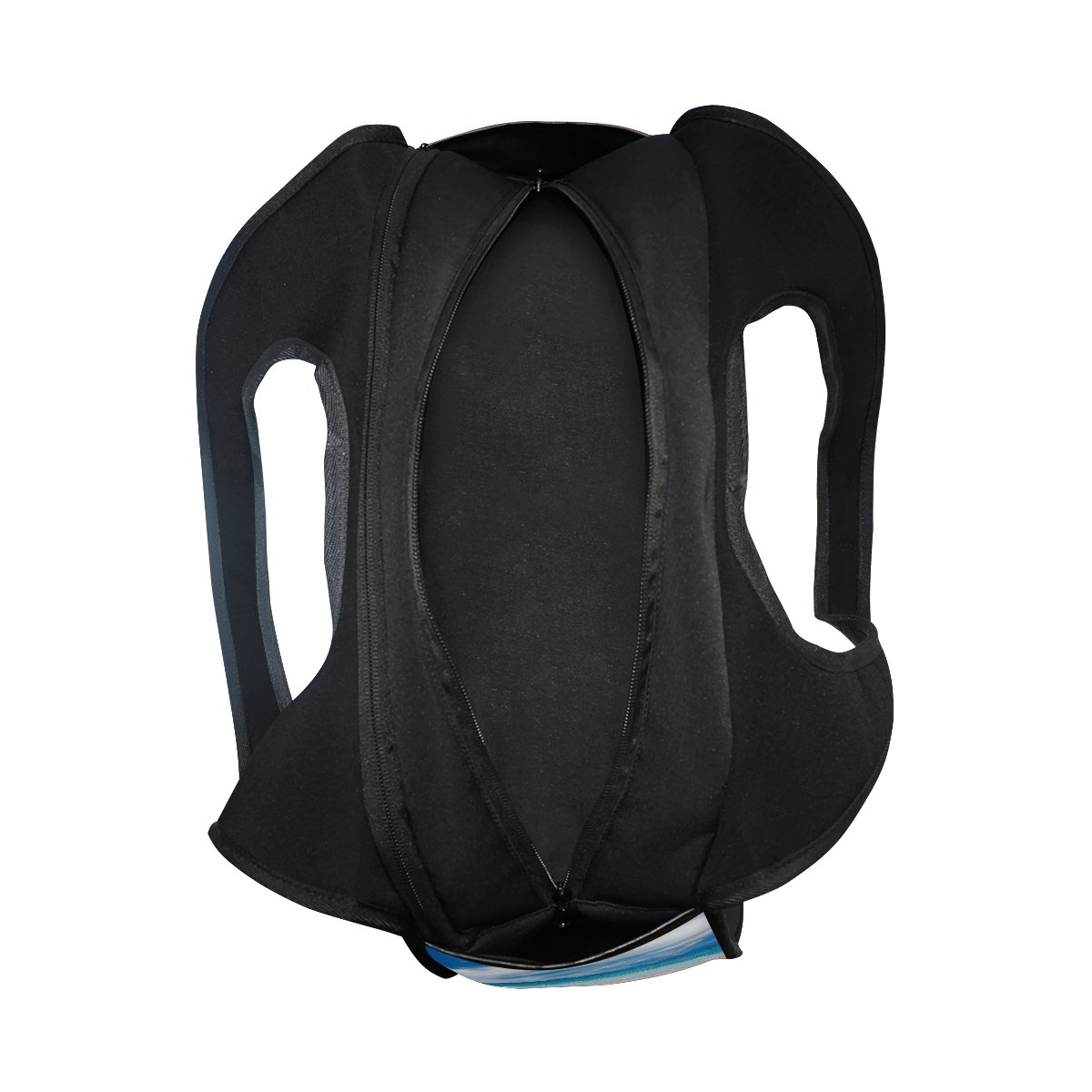 AHOMY Canvas Sports Gym Bag Beach Seawave Sunshine Travel Shoulder Bag