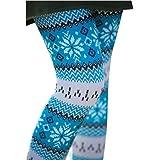 TOPmountain Noël imprimé Pantalon Chaud d hiver Leggings Minces pour Femme 32823e6f182