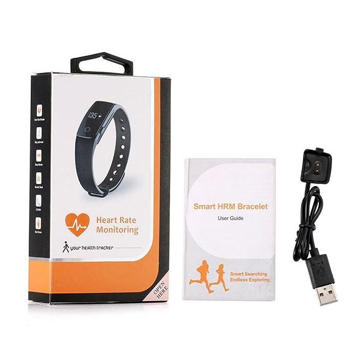 Amazon Com Id107 Bluetooth 4 0 Smart Bracelet Smart Band Heart