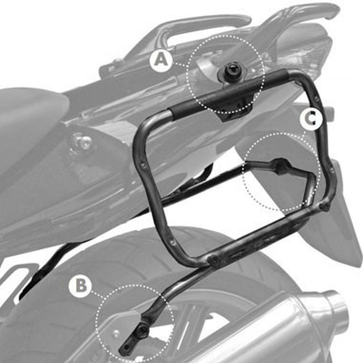 Abnehmbar GIVI PLXR174 Rapid Stahlrohr-Seitenkoffertr/äger