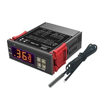 Diymore Stc-1000 - Termostato Digital Calefacción y Refrigeración regulador, Centígrados y Fahrenheit, Pantalla con sonda Sensor 220V para Fabricación ...