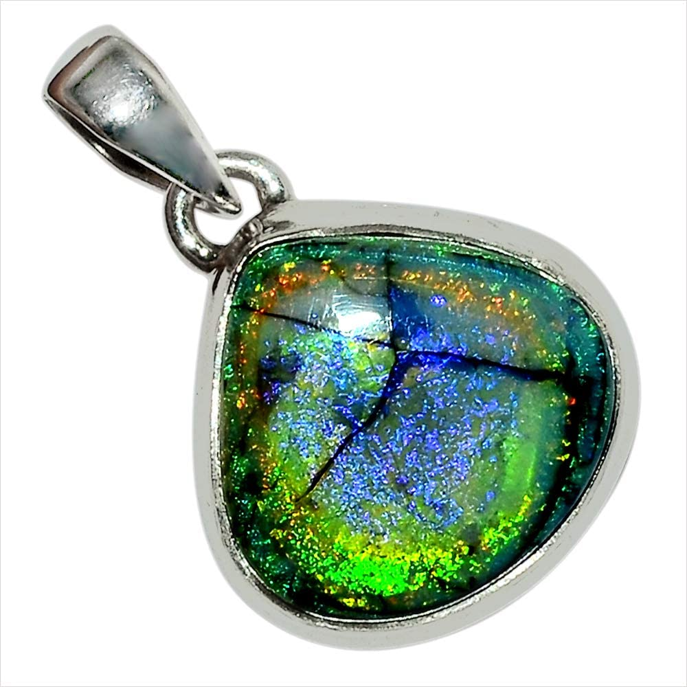 Xtremegems Sterling Opal 925 Sterling Silver Pendant Jewelry 1 28461P