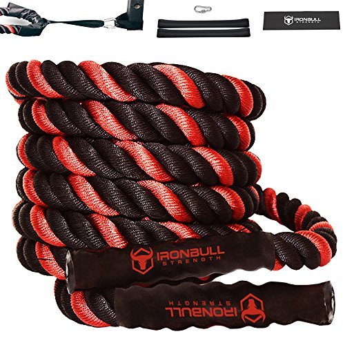 Iron Bull Strength Battle Ropes With Anchor Kit