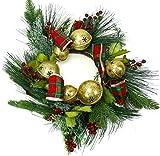 Christmas Centerpiece w/Bonus Pumpkin Ring, Hurricane & Flameless Candle