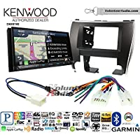 Volunteer Audio Kenwood DNX874S Double Din Radio Install Kit with GPS Navigation Apple CarPlay Android Auto Fits 2015-2017 Non Amplified Toyota Camry