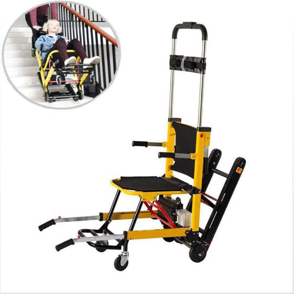 Bestting Silla de Ruedas automática, máquina de Escalada tripulada Plegable Tipo Oruga Escalada Edificio Ancianos portátiles Subir y Bajar Escaleras Silla de Ruedas
