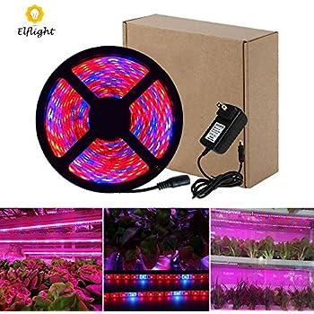 Amazon lahoku led plant grow strip light smd 5730 164ft elflight led plant grow strip lightpower adapter included5050 waterproof full spectrum aloadofball Choice Image