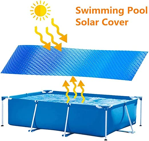 NUEVO Cobertor solar piscina rectangular, Manta Solar Piscina ...