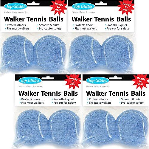 Top Glides Precut Walker Tennis Ball Glides - Light Blue - 4 Pairs