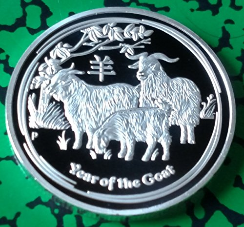 - Zodiac Year of the Goat Silver Plated Challenge Art Coin - Not Mint Issued