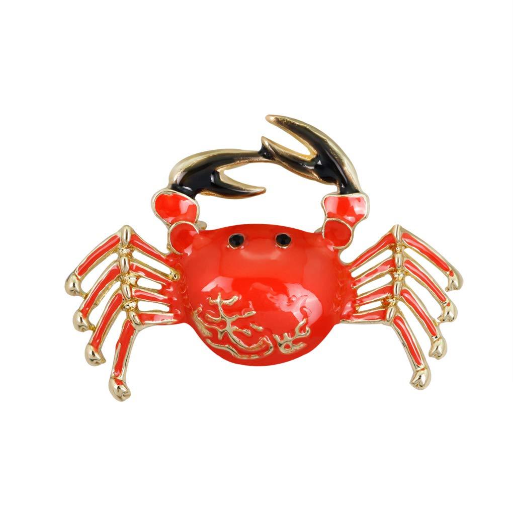 Fangfeen Wome Cartoon-Entwurf Strass Legierung Brosche Crab Brosche Entz/ückende Krabbe-Form Pin-M/ädchen-Kleidung dekorative Abzeichen Corsage