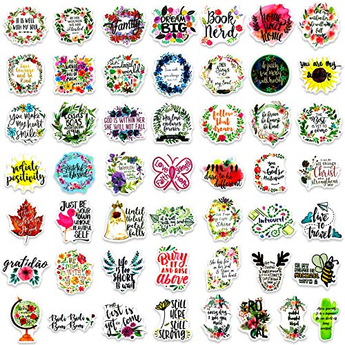 200 Pcs Inspirational Words Stickers for Hydroflasks, Motivational Quote Stickers for Teens and Adults Trendy Vinyl Positive Sticker for Water Bottles Book Laptop