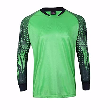 ef785336d Amazon.com   1 Stop Soccer Adult Goalkeeper Soccer Jersey Light Padded  Elbows   Clothing