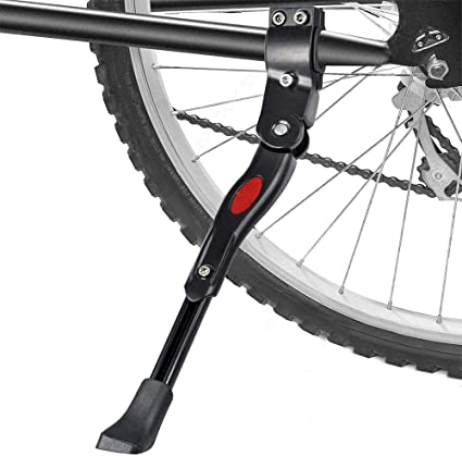 Bicycle Kickstand Adjustable Aluminium Alloy Cycling Height Rear Mount Side Kick
