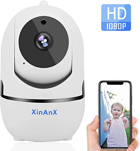 Wireless IP Camera 1080P HD WiFi Security Camera Indoor Pan Tilt Zoom Home Security Surveillance Camera System with Motion Tracking, Night Vision, Cloud Storage, Support iOS Android Windows