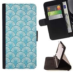 Momo Phone Case / Flip Funda de Cuero Case Cover - Patrón de Baby Blue Colores Wallpaper - Samsung Galaxy Note 5 5th N9200