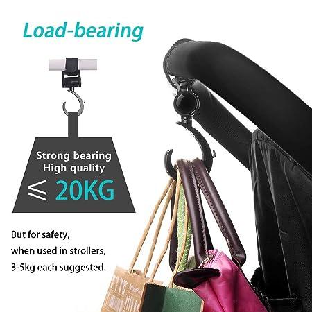 4pcs DireeKids Kinderwagen-haken 4 St/ück buggy-haken Taschenhaken Befestigen Sie Ihre Einkaufst/üten Taschen sicher am Kinderwagen Universale Passform