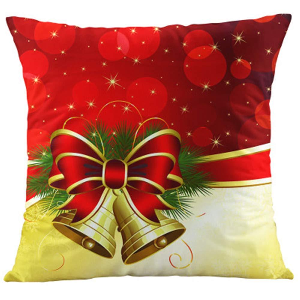 HIKTY Merry Christmas Pillow Covers Santa Claus Throw Pillow Case Cushion Covers 18 X 18 Inch Pillowcase Sofa Home Decorative Christmas 1
