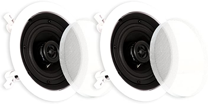 Theater Solutions CS4C In Ceiling Speakers Surround Home Theater Contractor Pair