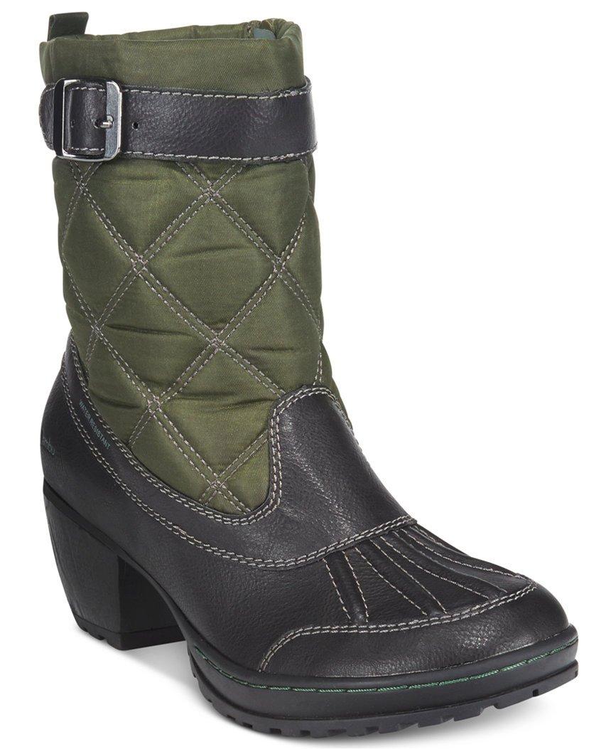 Jambu Women's Dover-Vegan Rain Boot B005A9V078 9 B(M) US|Black/Hunter Green