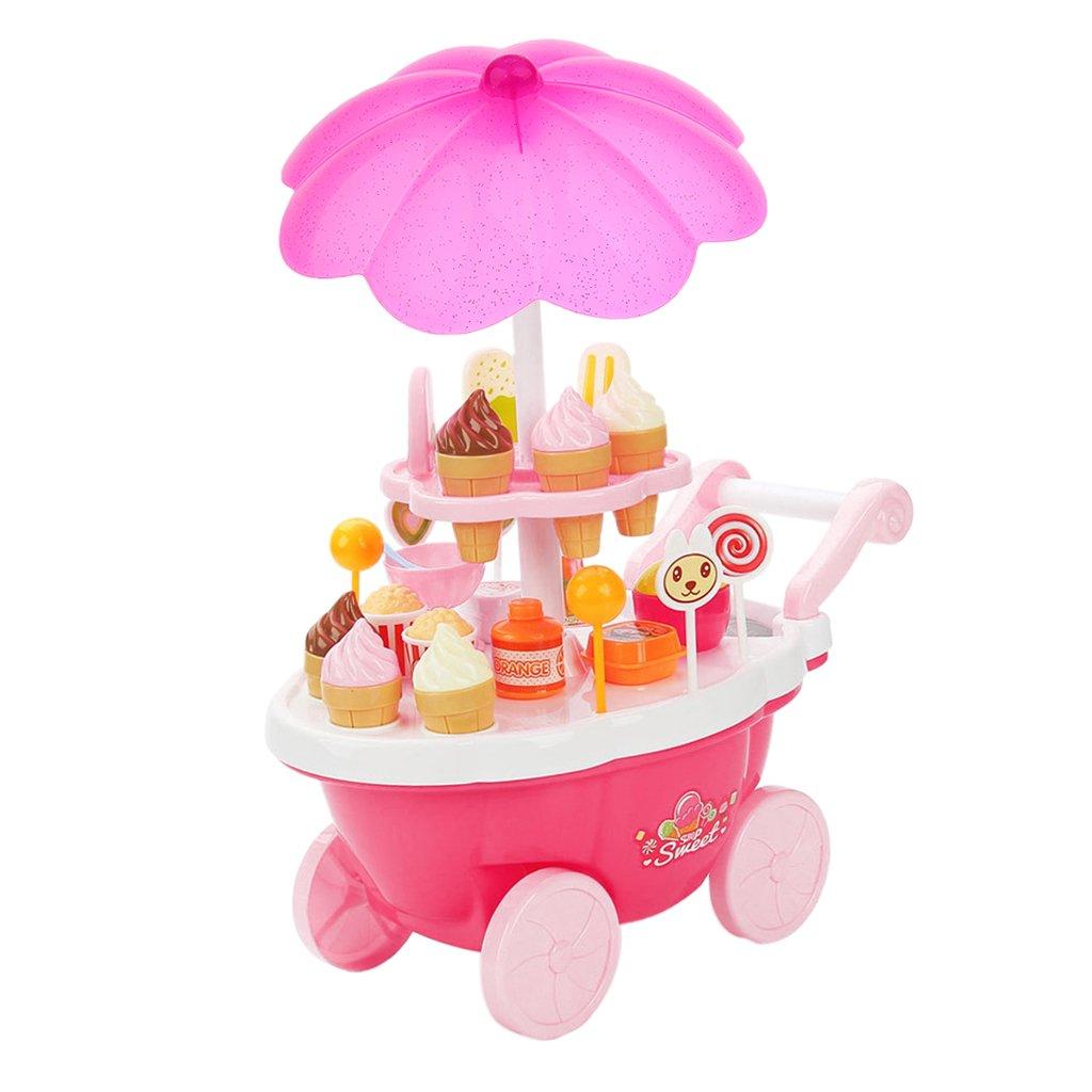 Amazon.es: B Blesiya Conjunto de Juquetes de Desarrolla de Imaginación de Niños Carrito de Helado con Luz y Sonido: Juguetes y juegos